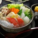 金目鯛と水菜のちり鍋
