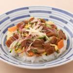 穴子と香味野菜のちらし寿司